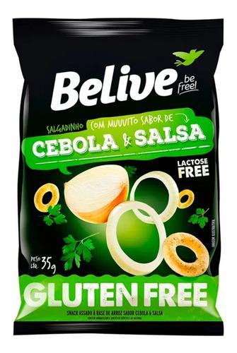 Imagem 1 de 5 de Snack Multigrãos Sabor Cebola E Salsa Belive 35g