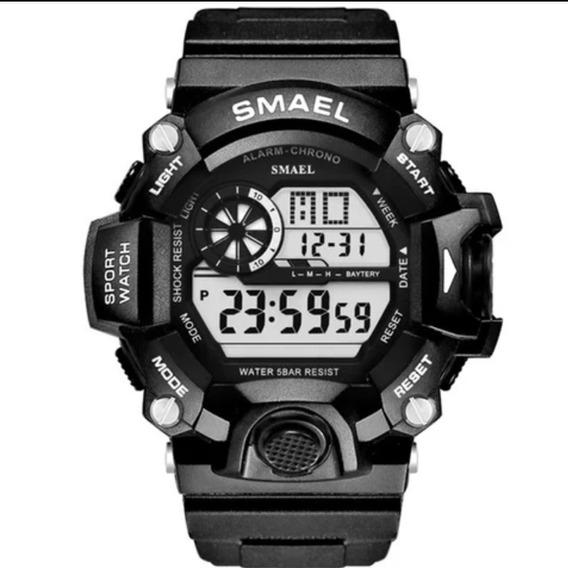 Relógio Masculino Smael 1385b Digital Militar À Prova D