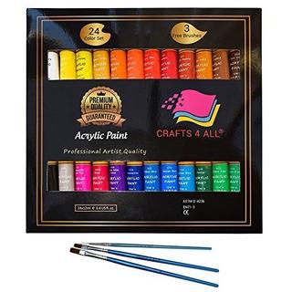 Pintura Acrílica Set 24 Colores De Crafts 4 Al