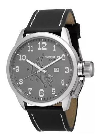 Relógio Masculino Seculus Couro - 20131goscnc2