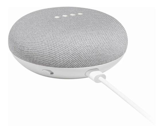 Caixa De Som Speaker Google Home Mini 2019 Português - Prata