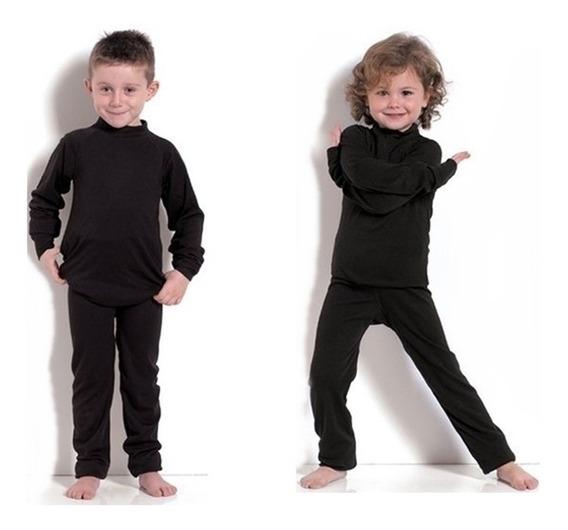 Segunda Pele Térmica Conjunto Infantil Proteção Para O Frio