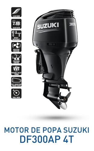 Motor De Popa Suzuki Df 300hp 2021 0km 12 X Miami Nautica