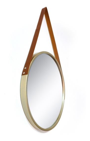 Espelho Redondo Decorativo Com Alça 45 Cm * Diversas Cores *