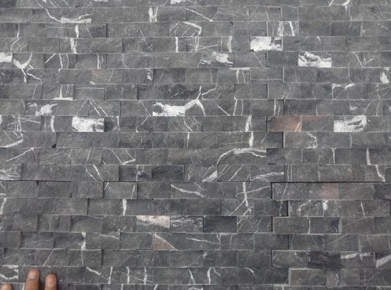 Piedrin Malla Mármol Cara Piedra Negro Monterrey Tronchado