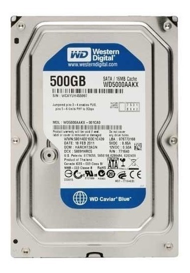 Hd 500gb Western Digital Sata3 16mb Cache