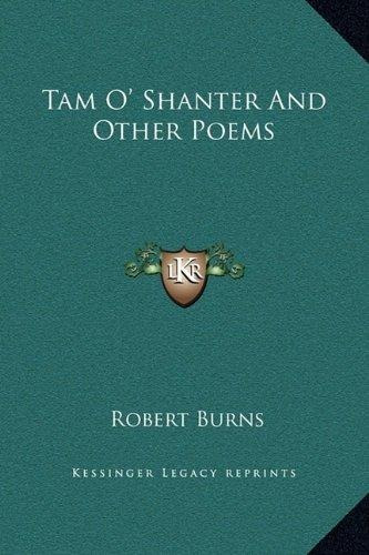 Tam O Shanter And Other Poems Robert Burns