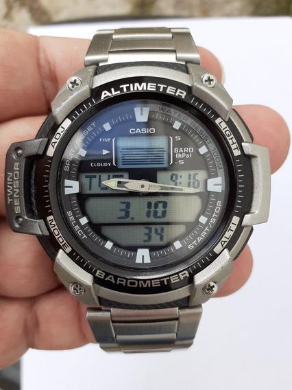 Casio Outgear Sgw 400 H Altimetro Barometro - Pulseira Aço