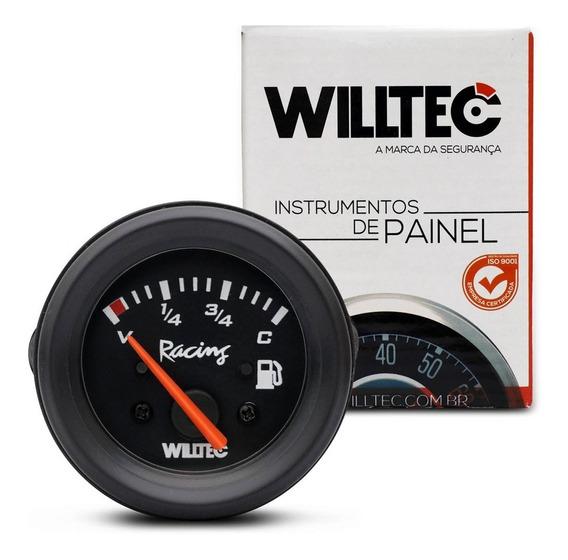 Relógio Manômetro Indicador Combustivel 52mm Willtec Preto
