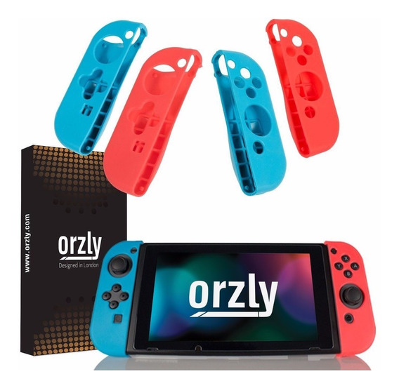 Silicona Protectora Joy Con Orzly Nintendo Switch Neon Pack
