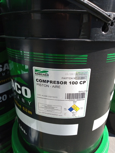 Compresor 100 Cp - Piston Aire Kansaco Balde20l