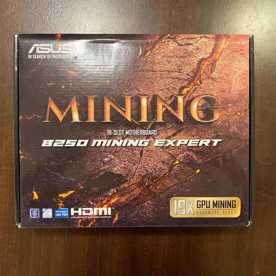 Placa Mãe Asus B250 Mining Expert Lga 1151p P/ Mineração