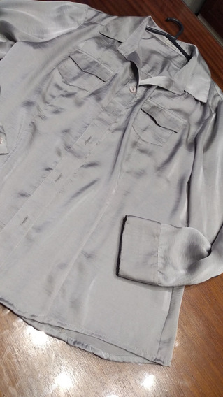 Camisa Calyx Plateada T L/xl