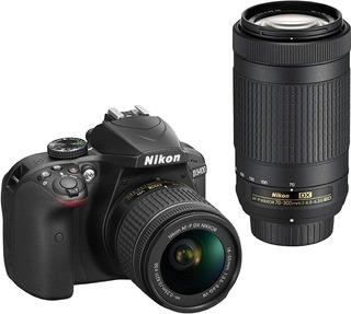 Camara Nikon D3400 Dslr 18-55mm F/3.5-5.6g Vr Lente