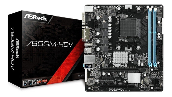 Placa Mãe Asrock 760gm-hdv Amd Am3+ddr3