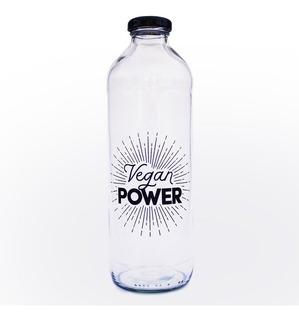 Botella De Vidrio Vegan Power