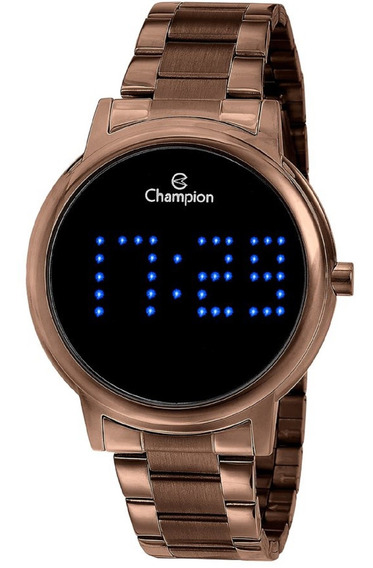 Relógio Champion Feminino Lcd Led Digital Chocolate Ch40044r