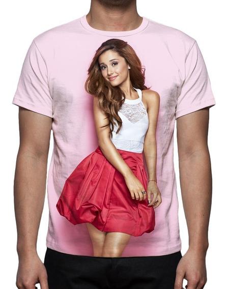 Camisa, Camiseta Cantora Ariana Grande - Estampa Total