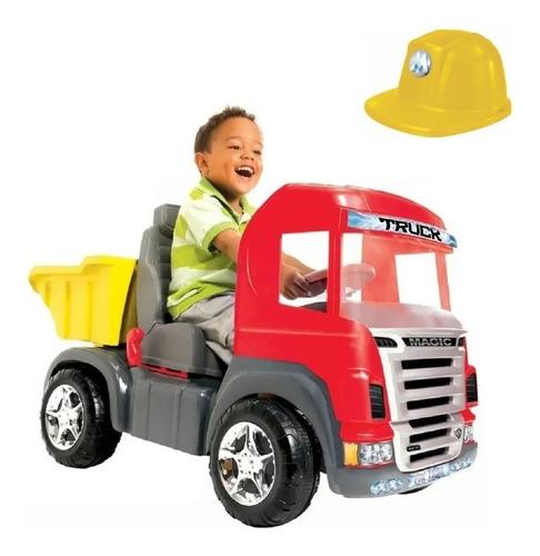 Imagem 1 de 7 de Caminhão Infantil Truck Pedal Som Luz 9300 Magic Toys