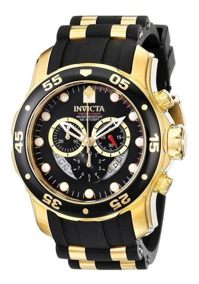 Relógio Invicta Pro Diver Reserve Nº6981 Scuba Golden Black