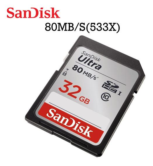 Cartão De Memória Sandisk Ultra 32 Gb Sdhc 80mb / S (sdsdunc