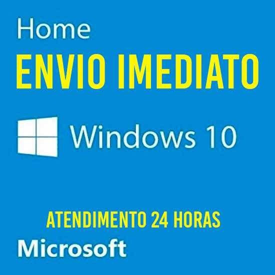 Win 10 Home Licenca Key Chave Ativacao 32/64 Bits