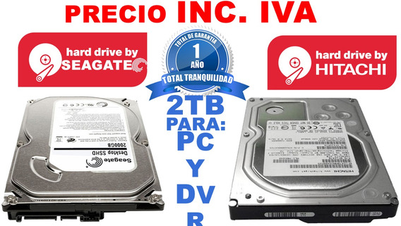 Disco Duro Pc 2tb 2 Tera Interno Seagate Hitachi 3.5
