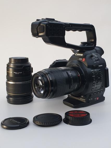 Cannon C100 Dual Pixel + Bateria Extra + Lente