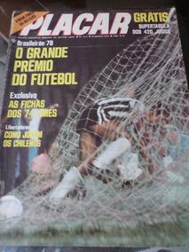 Revista Placar Guia Campeonato Brasileiro 1978 Sem Tabela
