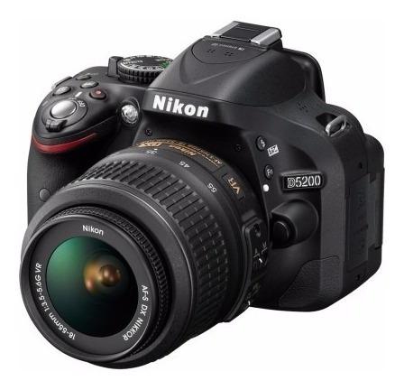 Câmera Nikon D5200 24.1mp Lente 18-55