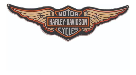 Adesivo Resinado Relevo Harley Davidson Carro Capacete