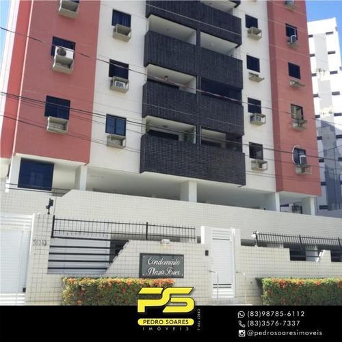 Apartamento Com 3 Dormitórios À Venda, 90 M² Por R$ 320.000 - Jardim Oceania - João Pessoa/pb - Ap4414