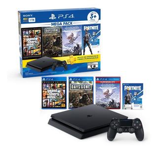Consola Ps4 De 1tb Mega Pack