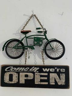 Bicicleta A Escala Letrero Open/closed Antigua