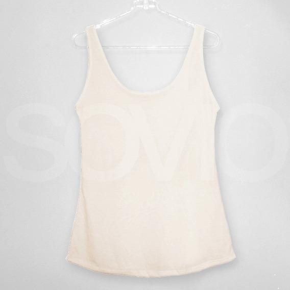 Pack X 10 Musculosas Escotada Lisa Spun Sublimacion Envio Gr