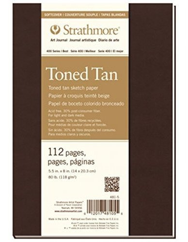 Strathmore 4817 400 Series Softcover Toned Tan Art Sketch Di