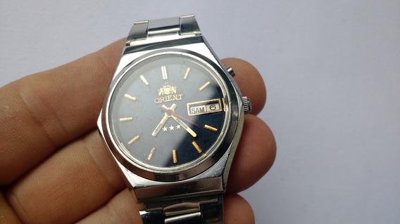 Relógio Orient Automático Azul Escuro Antigo Ótimo