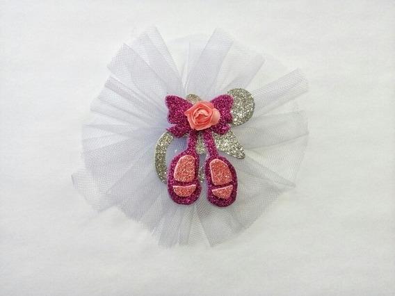 Paq 60 Distintivos De Ballet Rosa