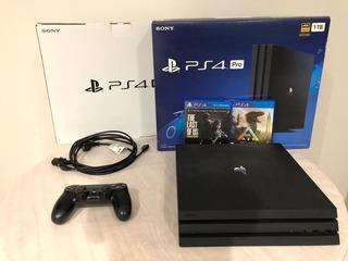 Playstation 4 Pro -seminueva -con Juegos De Regalo -ps4 Pro