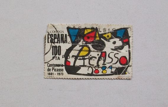 Estampilla Española Homenaje A Picasso