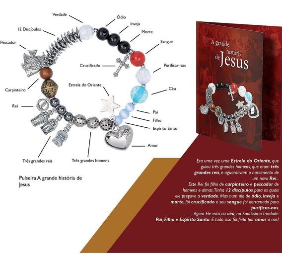 Kit 10 Unidades Pulseira História De Jesus- Promoção