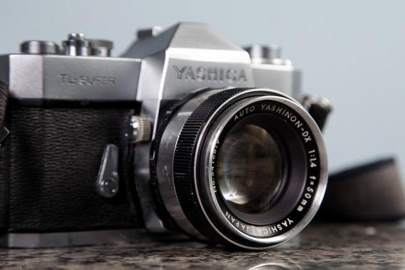 Yashica Tl-super Com Lente 50mm F/1.4 Com Adaptador M42