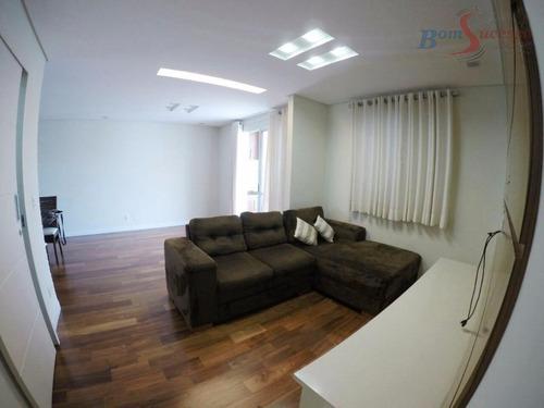 Imagem 1 de 14 de Apartamento Com 2 Dormitórios À Venda, 76 M² Por R$ 640.000,00 - Jardim Anália Franco - São Paulo/sp - Ap0980
