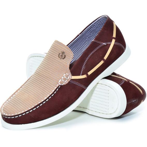 Mocassim Masculino Em Couro Tamanho Especial Shoes Grand