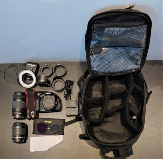 Kit Camera Canon Rebel T3i - Semi Nova