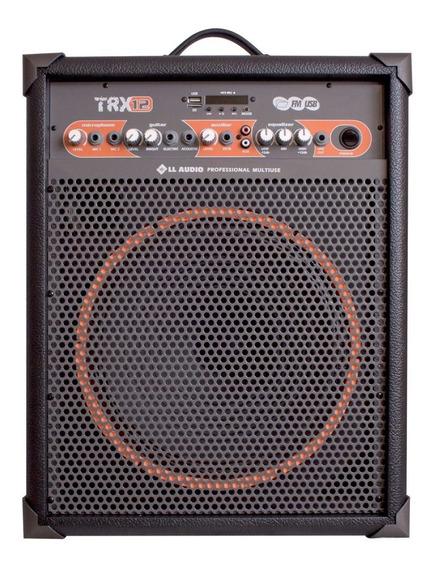 Caixa De Som Amplificada Multiuso Trx12 / 80w Bluetooth + Fm