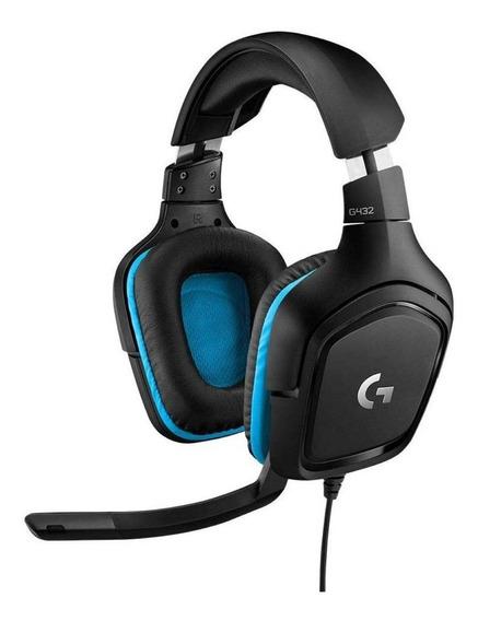 Fone de ouvido gamer Logitech G Series G432 black