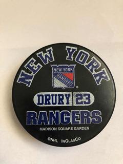 Disco De Hockey De Los Rangers De New York 23 Drury