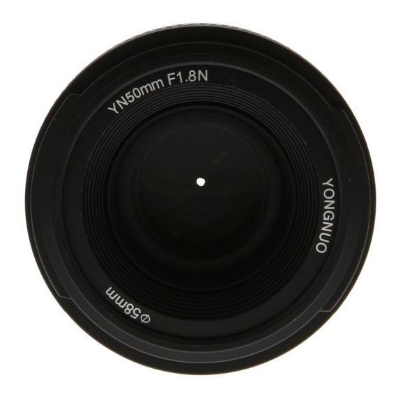 Lente Yongnuo 50mm F1.8 Para Nikon Com Motor De Foco (af-s) Na Lente Compativativel Com Camera Sem Motor De Auto Foco...