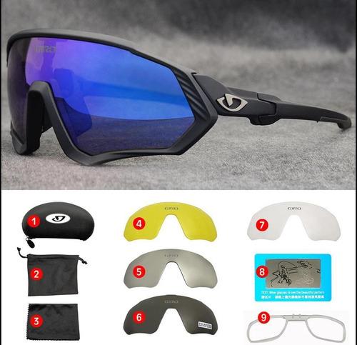 Gafas Giro Ciclismo Mtb, 5 Lentes Protección Uv Envío Gratis